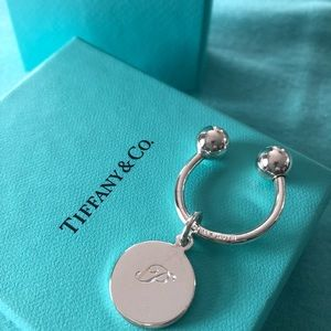 Tco sterling silver round keychain